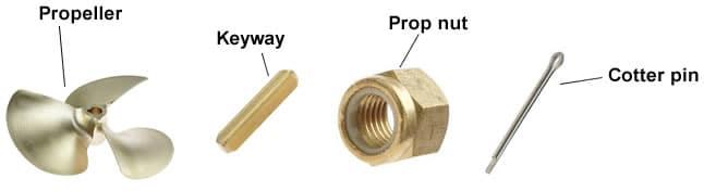 inboard propeller parts