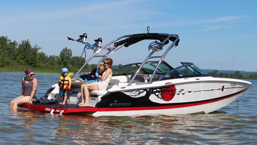 safe boating with kids