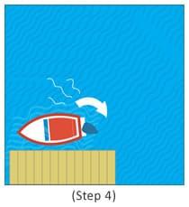 step 4 docking a boat
